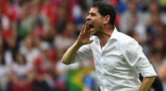 Fernando Hierro, técnico de España, en el partido ante Rusia