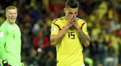Mateus Urube con Colombia ante Inglaterra en Rusia 2018