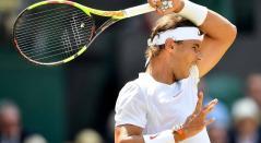 Rafael Nadal en la semifinal de Wimbledon