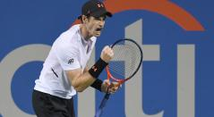 Andy Murray, celebrando un punto realizado a Mackenzie McDonald en Washington