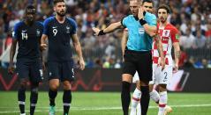 Árbitro en la final Franca vs Croacia
