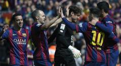 Barcelona Xavi, Iniesta, Messi