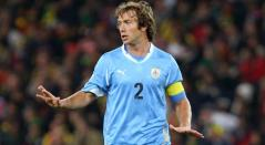 Diego Lugano ex capitan de Uruguay