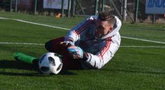 Franco Armani entrenando con River Plate en Argentina