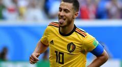 Eden Hazard fue la figura de Bélgica en Rusia 2018