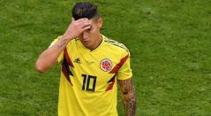 James Rodríguez lamentándose