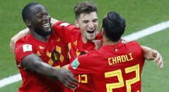 Lukaku Chadli Bélgica Japón Rusia 2018