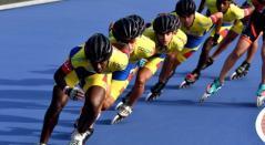 Selección Colombia en el Mundial de Patinaje de Carreras que se disputó en Holanda