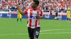 Teófilo Gutiérrez celebrando un gol con el Junior de Barranquilla