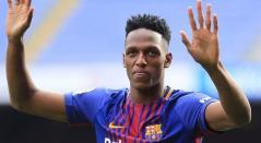 Yerry Mina no ha logrado consolidarse en el Barcelona de España