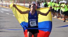 El colombiano Jeison Suárez, ganador del oro en la maratón de los Juegos Centroamericanos y del Caribe Barranquilla 2018