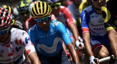 Nairo Quintana con el Movistar Team en el Tour de Francia