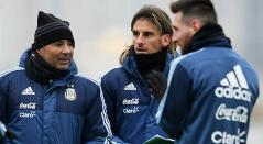 Sampaoli, Beccacece y Messi