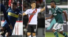 Edwin Cardona, Rafael Santos Borré y Miguel Ángel Borja