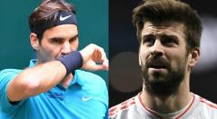 Roger Federer, tenista suizo y Gerard Piqué, futbolista español