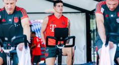 James Rodríguez en entrenamiento con el Bayern Múnich