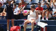 Simona Halep tras caer eliminada en el Us Open