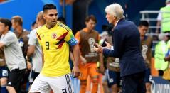 Falcao García, jugador colombiano y José Pékerman, técnico argentino