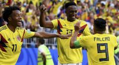 Jugadores de la Selección Colombia celebrando