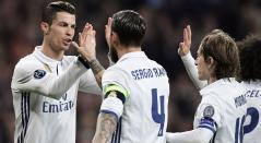Cristiano Ronaldo, Sergio Ramos y Luka Modric