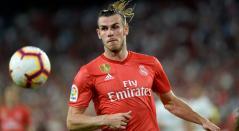 Gareth Bale durante el partido donde Real Madrid perdió 3-0 ante Sevilla como visitante