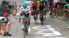 Miguel Ángel López en la Vuelta 2018