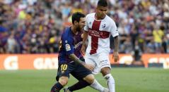 Juan Camilo 'Cucho' Hernández y Lionel Messi