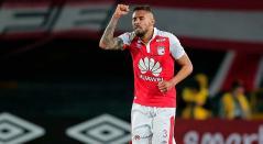 El defensa central de Independiente Santa Fe, José Moya