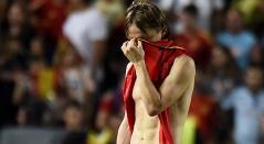 Luka Modric salió triste tras la goleada ante España