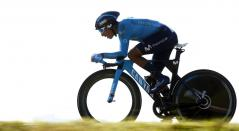 Nairo Quintana en la Contrarreloj individual de la Vuelta