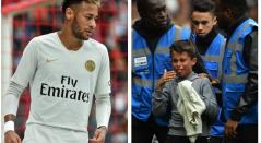 Neymar regaló camiseta a niño