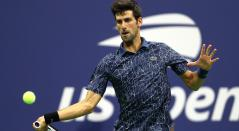 Novak Djokovic en el US Open 2018