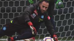 David Opsina, portero del Napoli, entrenamientos Napoli