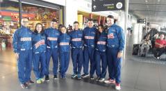 Selección Colombia Manzana Postobón de patinaje artístico viajó a Europa para el Mundial.