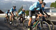 Selección Colombia de Ciclismo en el Mundial que se disputó en Innsbruck