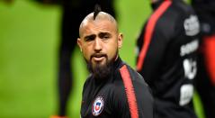 Arturo Vidal se entrena con la Selección de Chile