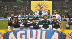 Jugadores del Deportivo Cali en la Liga Águila.
