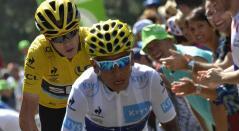 Froome y Nairo Quintana en el Tour de Francia