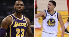 LeBron James y Klay Thompson