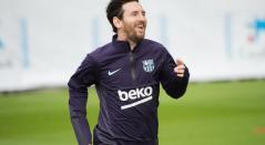 Messi vuelve al campo tras su lesión