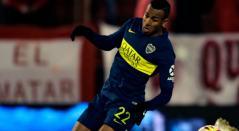 Sebastián Villa, figura de Boca Juniors en el partido ante Colón de Santa Fe
