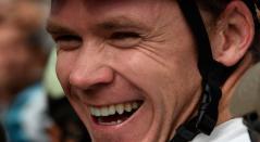 Chris Froome antes de iniciar la competencia el 'Giro de Rigo'