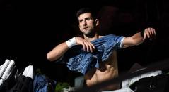 Novak Djokovic luego de perder la final del Masters 1000 de París
