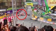 Sophia Flörsch en el accidente de Fórmula 3 en el Gran Premio de Macao