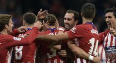 Atlético de Madrid celebrando un gol