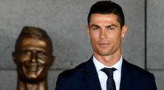La estatua de Cristiano Ronaldo en al ciudad de Madeira