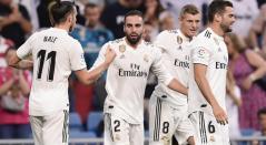 Real Madrid y Dani Carvajal en un partido a comienzos de la actual temporada