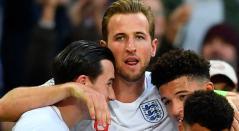 Harry Kane luego de anotar el gol de la victoria 2-1 de Inglaterra ante Croacia