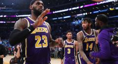 LeBron James, basquetbolista de los Lakers