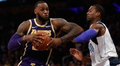 LeBron James, jugador de L.A. Lakers